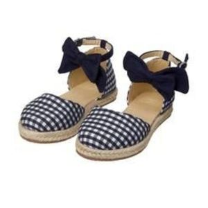 Janie and Jack Navy & White Gingham Espadrilles
